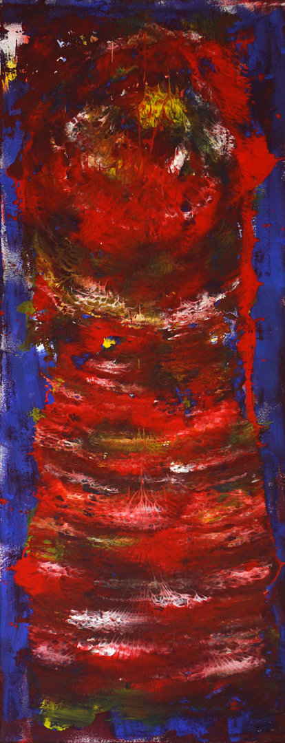 """Magic 1"" Acryl auf Leinwand 40x100"